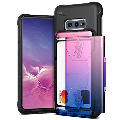 VRS DESIGN Custodia compatibile con custodia Samsung Galaxy S10e [Damda Shield] Semiautomatica Caratula a portafoglio Slot per 2 carte [US Patent No.9,661,116 B1] per Galaxy S10e - Rosa + Blu