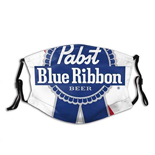 Pabst Blue Ribbon Bier Logo Sicherheit Gesichtsschutz Mundschutz Wiederverwendbare atmungsaktive Gesichtsbedeckung