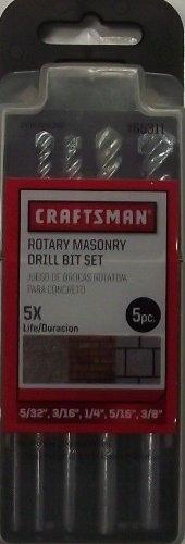 Craftsman 66311 5pc Rotary Masonry Drill Bit Set 5/32 3/16 1/4, 5/16, 3/8