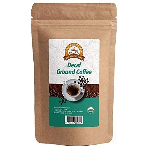 Alex's Acid-Free Organic Coffee 12oz Bag - Fresh Ground Decaf
