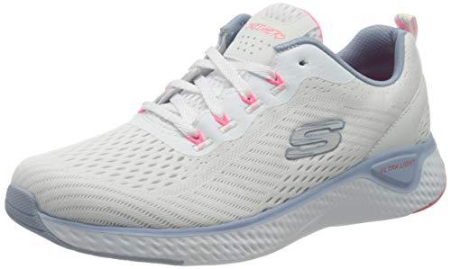 Skechers Damen SOLAR Fuse Cosmic View Sneaker, Weiß Weiß Mesh Blau Pink Trim Wblp, 40 EU