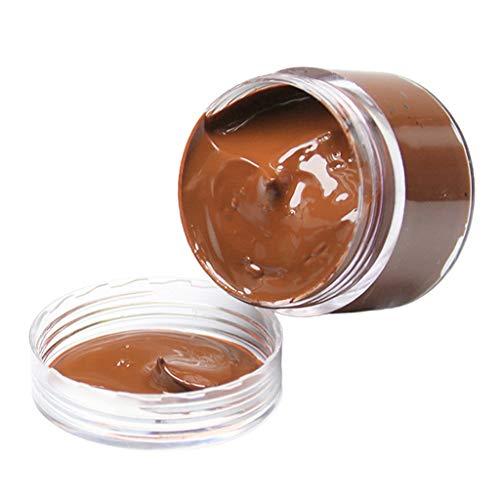#N/A Bálsamo recolorante de cuero, restaurador de Color de cuero para sofá, bolso, zapatos, asientos de coche, Color de cuero de reparación en desteñido y - Luz marrón
