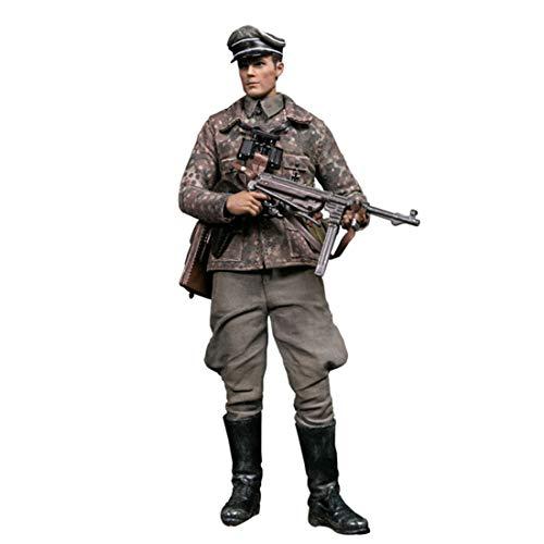 Batop 1/12 Soldat Modell, 15cm WW2 Soldat Actionfigur Modell Spielzeug Figuren Militär Soldat Modell - Deutsche Panzerdivision