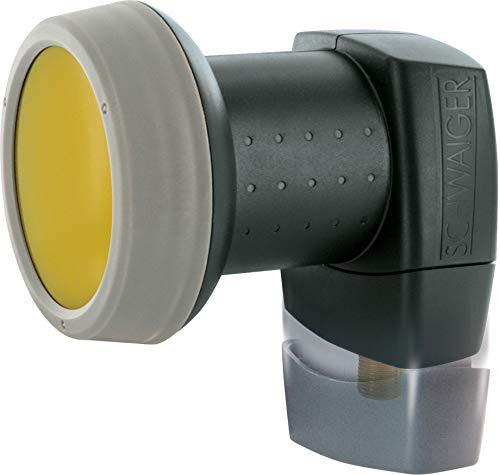 SCHWAIGER -319- LNB individual con protección solar | 1 participante | digital | tapa de LNB extremadamente resistente al calor | multialimentación adecuada con protección climática y contacto dorados