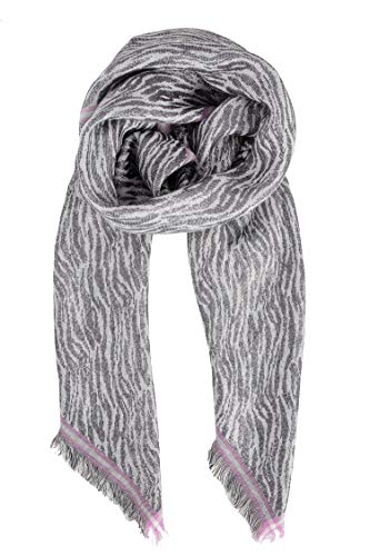 Becksöndergaard Schal Damen Mille Colur Scarf Grau (Grey) - Tuch aus feinster Baumwolle und glänzenden Metallfäden - Größe 100 x 100 cm - 2004727001-006
