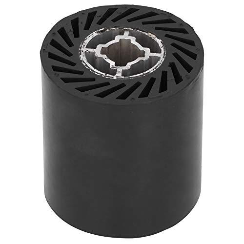Rueda de pulido de goma ligera de bajo ruido para pulidora de trefilado, accesorio de máquina pulidora negra 90x100mm