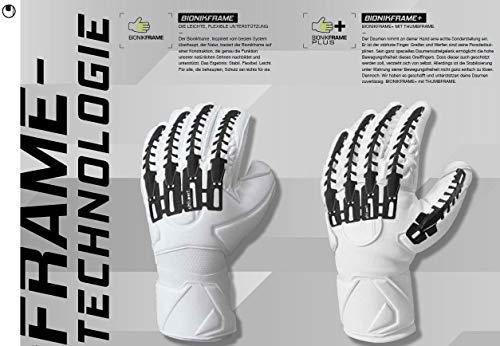 uhlsport Torwarthandschuhe Next Level-Supersoft-In den Größen 6-11 Innenhand Keeper-Handschuhe entwickelt mit Profis-Optimaler Halt und Grip, langlebig-Marine/Fluo rot, 7 - 3