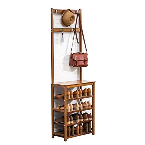 LM-Coat rack XINGLL Percheros Pie Perchero, Mueble Independiente Estante Multifuncional, Pasillo Dormitorio Entrada para Ropa Paraguas Sombrero Zapato Bolso Almacenamiento, Fácil Montaje