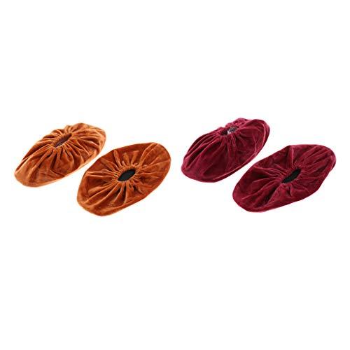 Sharplace 2 Pares de Fundas para Zapatos Fundas para Botas Sin Cordones Cubrezapatillas para Niños