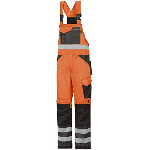 Snickers Workwear 0113 High-Vis Latzhose orange Gr. 152, signalorange-anthrazit