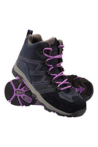 Mountain Warehouse Oscar Kids Hiking Boots - for Girls & Boys Dark Purple Kids Shoe Size 4 US