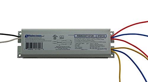 Robertson 3P20132 Fluorescent eBallast for 2 F40T12 Linear Lamps, Preheat- Rapid Start, 120Vac, 50-60Hz, Normal Ballast Factor, NPF, Model RSW234T12120 /A (Crosses to 3P20010 Model RSW240T12120 /B)