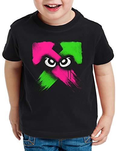 style3 Splash Power Camiseta para Niños T-Shirt Switch Shooter Gamer, Talla:140