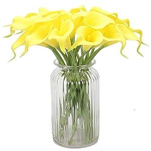 10 Piezas Artificiales Cala Lirios, Arreglos Florales de Bricolaje Elegante DecoracióN de Flores Para Ramo de Flores…
