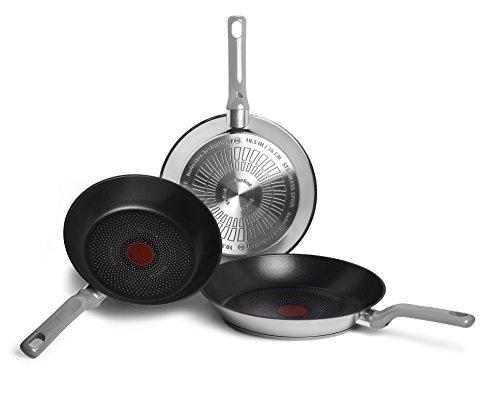 Tefal Envy Pack de 3 sartenes de 20, 24 y 26 cm, Antiadherente Resistium con 6 Capas de Alta Durabilidad, para Todo Tipo de cocinas Incluido inducción