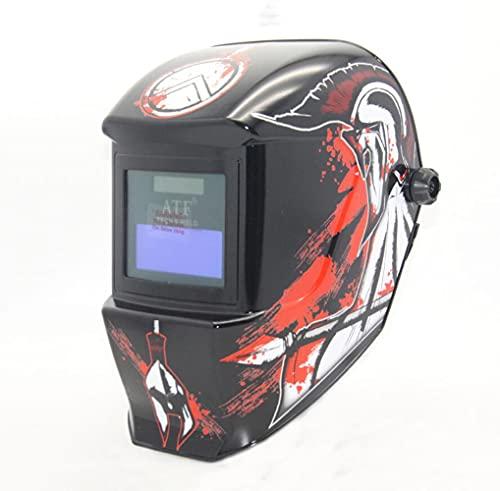 ConPush Careta de Soldar Automatica con Gran Campo Visual Mascara de Soldar Automatica para MIG mag TIG Esmerilado Soldadura por Arco Corte por Plasma