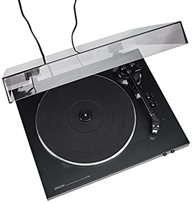 Denon DP-300F Fully Automatic Analog Turntable with Built-in Phono Equalizer | Unique Tonearm Design | Hologram Vibration Analysis | Slim Design by Denon