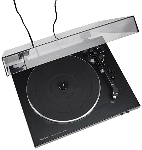 Denon DP-300F Fully Automatic Analog Turntable With Built-In Phono Equalizer | Unique Tonearm Design | Hologram Vibration Analysis | Slim Design,Black