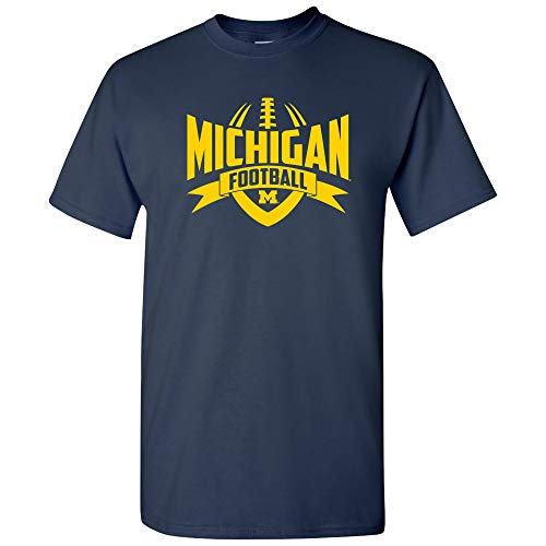 AS09 - Michigan Wolverines Football Rush Mens T-Shirt - Small - Navy