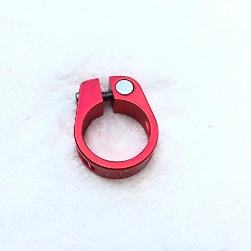 CarbonEnmy super leicht Alu Fahrrad Sattelklemme Saddle clamp 31,8 mm (Rot) - 2