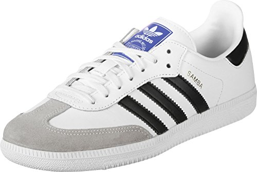 Adidas Samba OG J, Zapatillas Unisex Niños, Blanco (Footwear White/Core Black/Clear Granite 0), 38 EU
