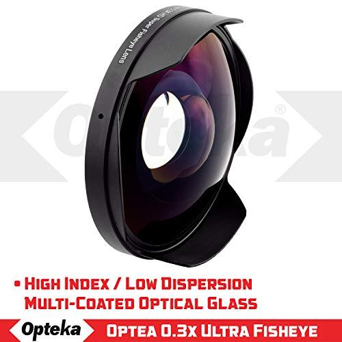 Opteka OPT-SC58FE Titanium Series 0.3X HD Ultra Fisheye Lens for 58mm Digital Video Camcorders