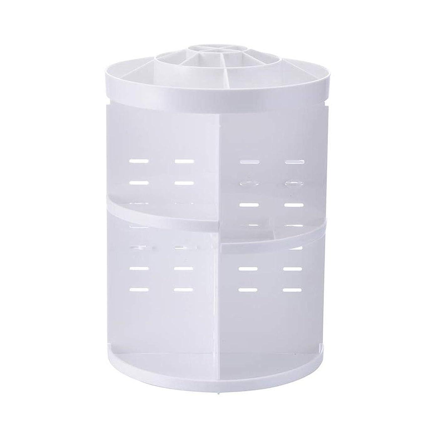 亡命団結瞑想するLDG 化粧品収納ボックス、360 化粧品ケース- 回転 スキンケア商品 化粧品入れ 卓上収納 寝室 浴室 洗面所 家庭用 (色 : 白)