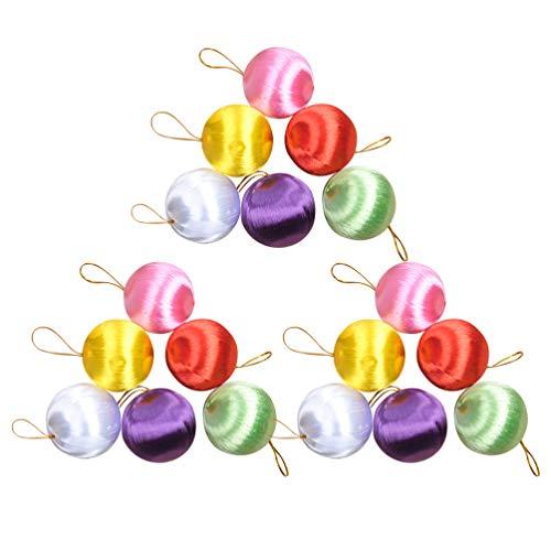 PRETYZOOM 30pcs Satin Balls Christmas Ball Ornaments Christmas Tree Ball Decorations Holiday Party Decorations (Random Color)