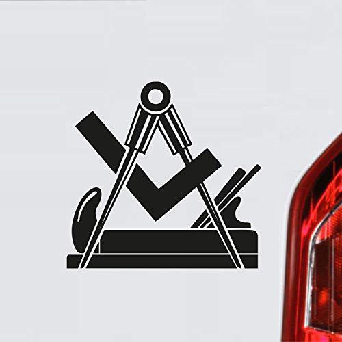myrockshirt Schreiner Zunftzeichen Wappen Symbol Handwerk ca. 20 cm Aufkleber,Autoaufkleber,Sticker,Decal,Wandtattoo, aus Hochleistungsfolie,UV&waschanlagenfest,Lack,Scheibe,Wandtattoo,