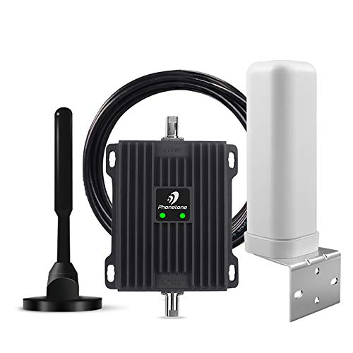 Cell Phone Signal Booster for RV, Motorhome, Camper, Cabin, Trailer and Boat - Dual Band 12/13/17 700Mhz Mobile Cellular Repeater Kit Boosts 4G Data and Volte for Multiple Users
