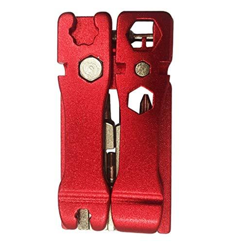 bobo4818 Multifunktionswerkzeug 20 in 1 Inbusschlüssel Schraubenzieher Schlüssel Fahrrad Werkzeuge Multi Reparatur Werkzeug Kit Set Der Kleine Tourretter (Rot)