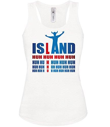 Island Iceland Fussball Fußball Trikot Look Jersey Fanshirt Damen Frauen Mädchen Tank Top T-Shirt Tanktop Fan Fanartikel Outfit Bekleidung Oberteil Artikel