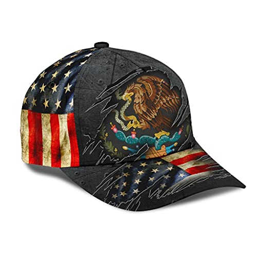 Personalized Name 3D Printed Unisex Cap Hat Mexican-American Classic Cap 214 Text Name Customized Classic Cap Snapback Cap Baseball Cap for Men Women Sports Outdoor