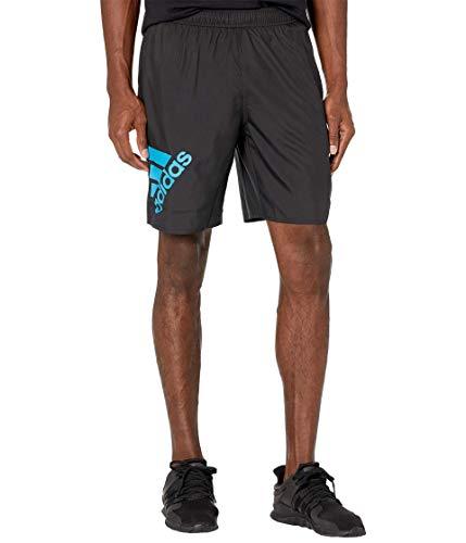 adidas Big Badge of Sport CLX Shorts Black/Shock Cyan 2XL