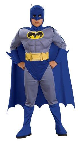 Rubie 's Offizielles Batman-Kostüm, mit Brustmuskel-Panzer, für Kinder (Klein)