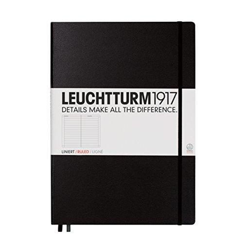 Leuchtturm1917 327150 Master Classic Notizbuch (A4+, Liniert, Hardcover) 233 Seiten schwarz