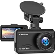 Campark Dash Cam 1080P FHD Dashboard Camera for Cars with 170° Wide Angle G-Sensor Loop Recording Super Night Vision and 24 Hours Parking Monitor