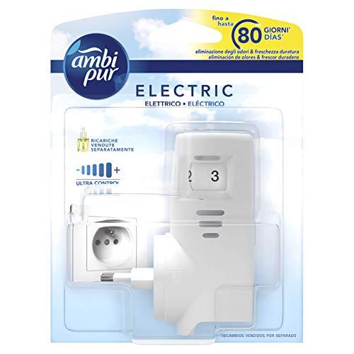 Ambi Pur Diffusore Elettrico Base per Ricarica Liquida, Deodoranti per ambienti, Elimina Odori