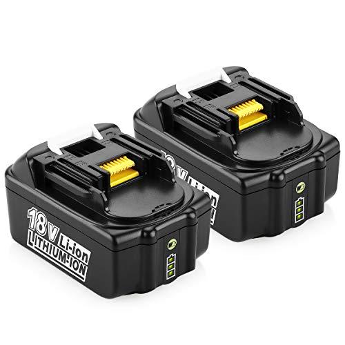 [2 Stück] Energup 18V 4.0Ah Li-ion Ersatz Akku für Makita 18V BL1860 BL1850 BL1840 BL1830 BL1820 BL1815 Werkzeugakkus