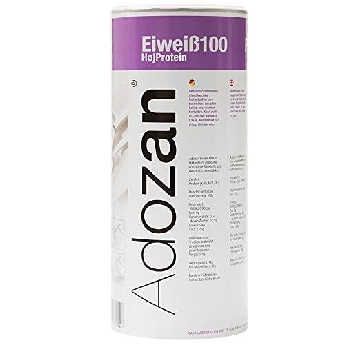 Adozan Eiweiß100: Protein Pulver | geschmacksneutral | 99% Protein Eiweißpulver | für alle Speisen und Getränke | Ideal zum BACKEN und für Proteinshakes | Premium Qualität aus Dänemark | 1000g