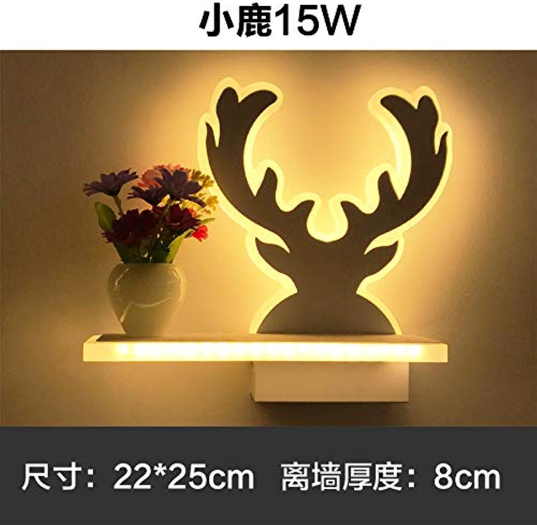 Moderne LED - Beleuchtung einfach frisch Vasen Flur Wand Nachttischlampe romantische Schlafzimmer Balkon Gang Wandleuchte, Hirsch