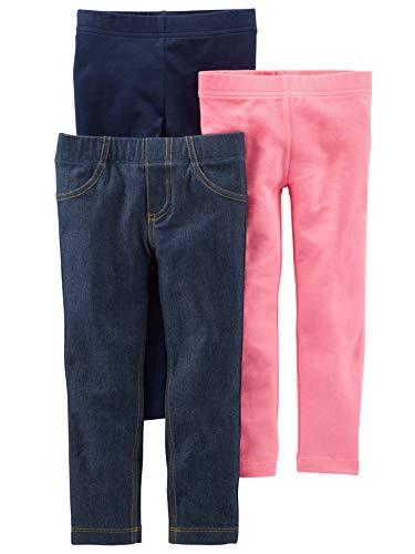 Simple Joys by Carter's leggings-pants, Navy/Pink/Denim, 4T
