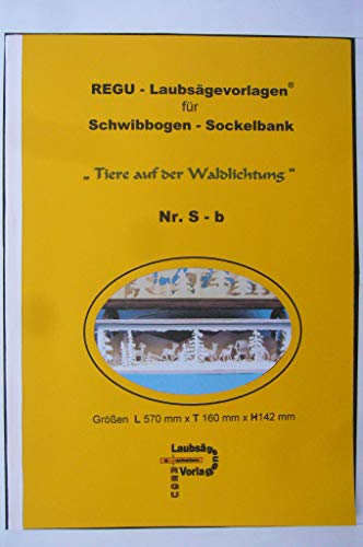 REGU - Laubsägevorlage Sockelbank für Schwibbogen S - b