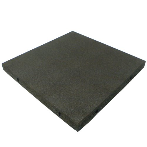 Rubber-Cal 'Eco-Safety Interlocking Playground Tiles - 2.50 x 19.5 x 19.5 inch - 4 Pack - 11 Square Feet Coverage - Black (04-126-CO-4pk)