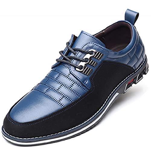 Harvards - Hybrid-Leder-Schuhe Herrenschuhe (38,Blue)