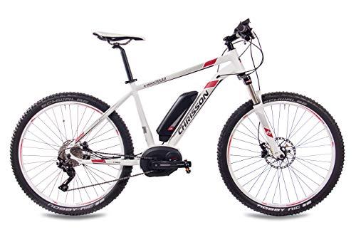 41saw1SLuAL - CHRISSON 27,5 Zoll E-Bike Mountainbike Bosch - E-Mounter 2.0 Weiss 52cm - Elektrofahrrad, Pedelec für Damen und Herren mit Bosch Motor Performance Line 250W, 63Nm - Intuvia Computer und 4 Fahrmodi