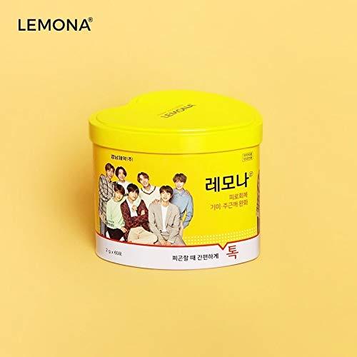 BTS LEMONA ハート缶(60包)防弾少年団 レモナビタミン パッケージランダム [並行輸入品]