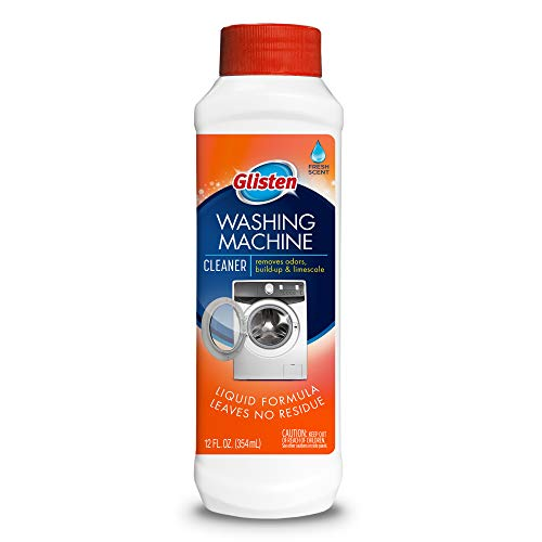 Glisten Washer Magic Machine Cleaner, Remove Odors and Buildup, Cleans Front Load & Top Load Washers, Safer Choice Winner, 12 Ounce