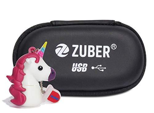 ZUBER® - Memoria USB con diseño de Unicornio Blanco – Memoria USB 2.0 de Dibujos Animados con Alta Velocidad y Amplia compatibilidad – Gran Idea de Regalo 8 GB