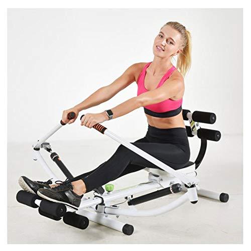 Rudergerät, 12 Widerstandsanpassung Fitnessgeräte Cardio, Faltbarer hydraulischer Rudertrainer Innenrudergerät